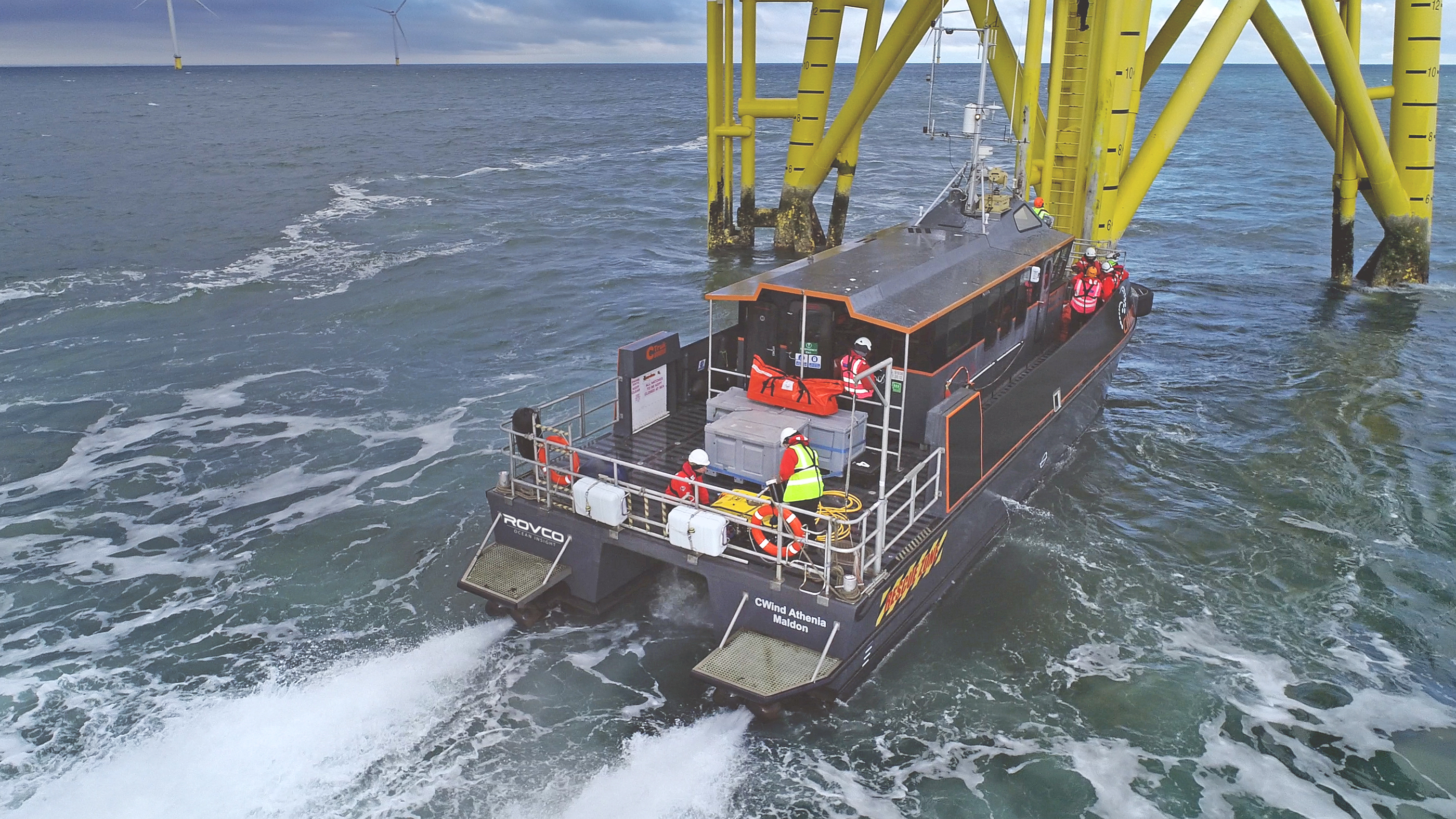 ROV wind farm inspection